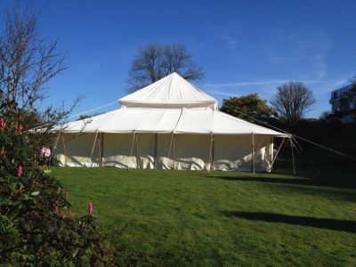 Summer Marquee Set Up