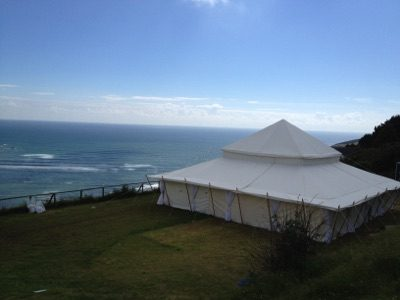 Marquee by the sea