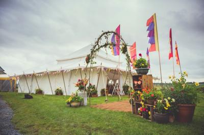 Festival Theme Wedding Marquee